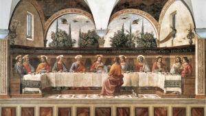 Domenico Ghirlandaios fresk av Jesu sista måltid