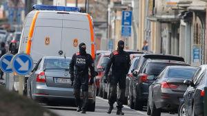 Bryssel, avspärrning efter terrorräd