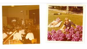 Ann-Catrin Wulff på Martin Wegeliusinstitutets sommarkurs sommaren 1971 på SÖFF i Yttermark. På bilden till vänster dirigerar Harald Andersén.