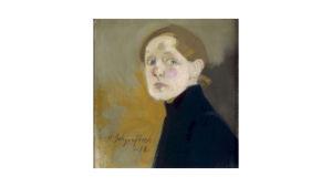 Ateneum har köpt Helene Schjerfbecks självporträtt från 1912.