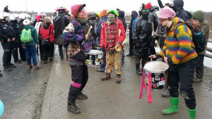 Aktivister vid Fennovoima
