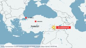 Karta över Turkiet.