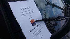 Parkeringsanmärkelse