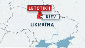 Karta över Ukraina
