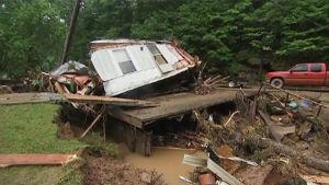 Svåra översvämningar i West Virginia