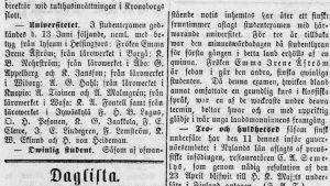 Hufvudstadsbladet den 14 juni 1873.