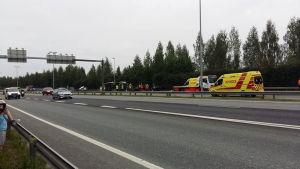 Allvarli trafikolycka i Tavastehus.