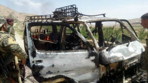 Talibanrebeller angrep i torsdags en grupp utländska äventrysturister nära staden Herat i ett misslyckats försök att kidnappa dem.