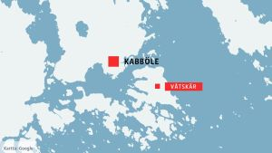 Karta över Kabböle och Våtskär
