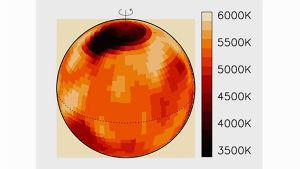 Thomasd Hackmans grafik vid stjärnfläcksforskning.