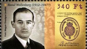 Raoul Wallenberg på ett ungerskt jubileumsfrimärke 2012.
