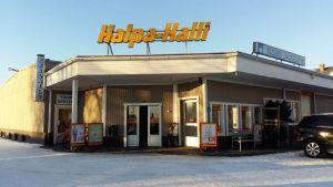 Halpa-Halli butiken i Vörå.