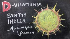 D-vitamiinia syntyy iholla auringonvalossa