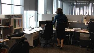 Kvinna på arbetsplats