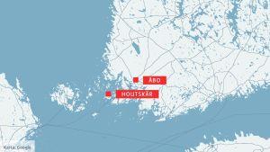 Karta över Houstskär