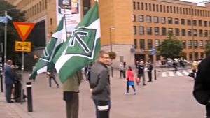 Finska Motståndsrörelsen i Helsingfors centrum 10.9.2016