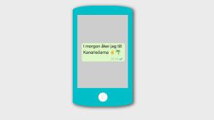 Ett sms som innehåller emojier.