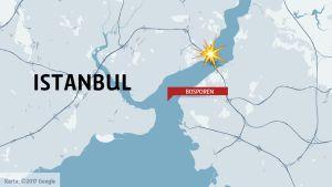 Karta över Istanbul.
