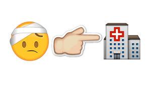 Så här kan du berätta att du hamnat på sjukhus med emojier.