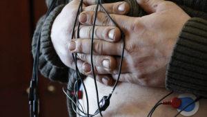Sonder registrerar den elektriska aktiviteten på muskelns yta.
