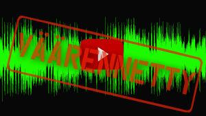 Väärennetty sana audion ja videon päällä