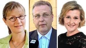 Nina Huru, Harri Lindell och Helena Kantola.