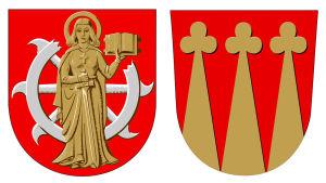 S:t Karins och Pikis gamla kommunvapen