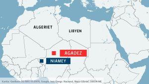 Karta över norra Afrika