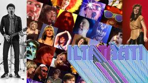 Kollaasi Iltatähden 1980-luvun esiintyjistä.