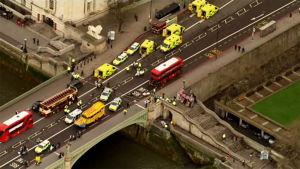 Polisbilar i London.