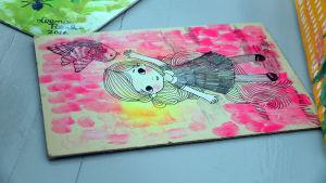 Leena  Rengon maalaus