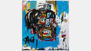 Tavlan, som saknar namn, målades av konstnären Jean-Michel Basquiat år 1982.