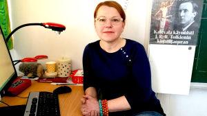 Jaana Lindfors jobbar som lärare.
