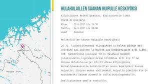 Kilpisjärven juhannusjuhlien kuvaus ja karttakuva.