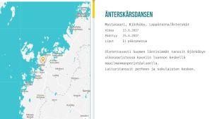 Kartta ja kuvaus Mustasaaren juhannusjuhlista.