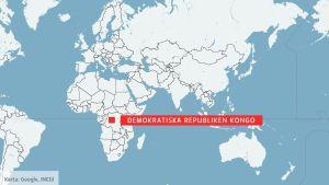Karta över Kongo-Kinshasa