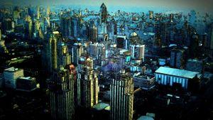 suurkaupunki, käsitelty kuva