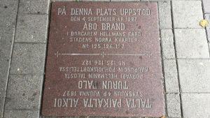 Ett minnesmärke över Åbo brand