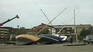 Mauri-myrskyn tuhoja Lapissa 1982.