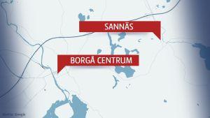 Karta över Borgå