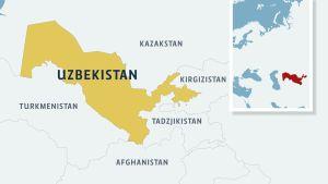 Karta över Centralasien