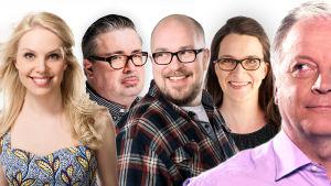 Anne Lainto, Pekka Laine, Matti Ylönen, Maaria Seppänen ja Matti Rönkä