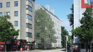 Ett höghus planeras till Topeliusgatan 16 där Soc&kom tidigare fanns.
