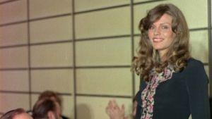 Riitta Väisänen vuoden 1976 Miss Suomi -kisoissa.