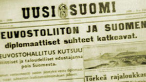 Talvisota syttymisestä kirjoitettiin Uudessa Suomessa