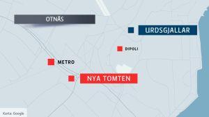 Karta över Otnäs.
