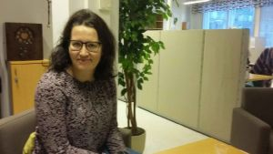 Rektor Cecilia Hägglund-Nygård vid Karleby svenska gymnasium