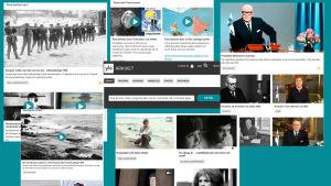 Skärmdumpar av Yle Arkivet