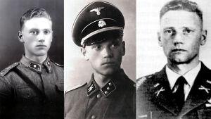Lauri Törni alias Larry Thorne i finsk, nazitysk och amerikansk uniform.