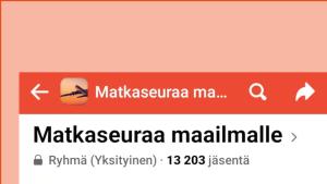 Kuvassa näkyy Kalastus Kirpputori -ryhmän etusivu ja liity ryhmään -painike
